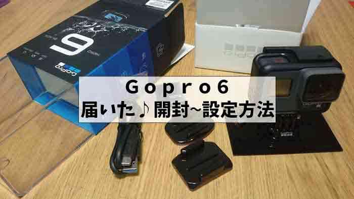 遊びの王様・ブログ用カメラGopro6が届いた♪|開封ー付属品と設定